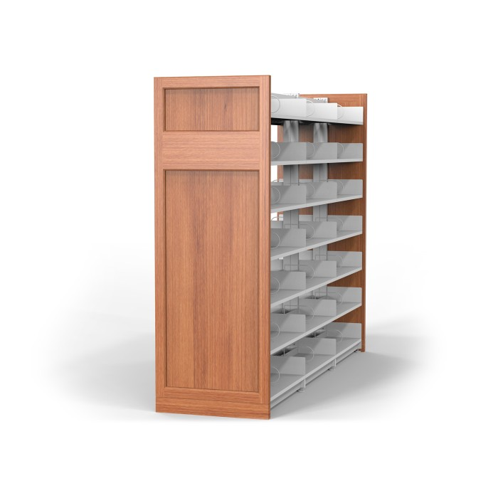 End Panels with Steel Library Shelving
