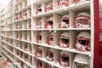 FOOTBALL HELMET STORAGE SHELVING AND BINS