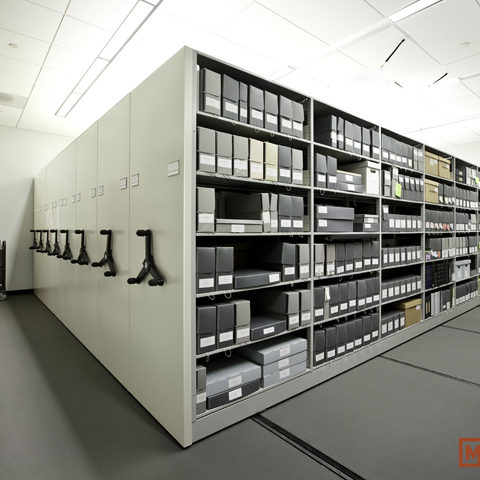 COURTHOUSE SHELVING AND ROLLING CABINETS